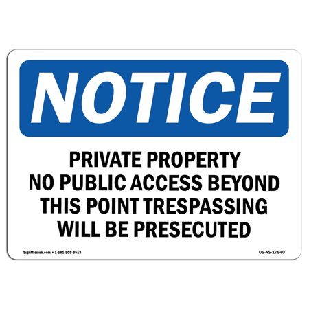 Halloween Public Access (OSHA Notice Sign - Private Property No Public Access Beyond | Choose from: Aluminum, Rigid Plastic or Vinyl Label Decal | Protect Your Business, Work Site, Warehouse & Shop Area)
