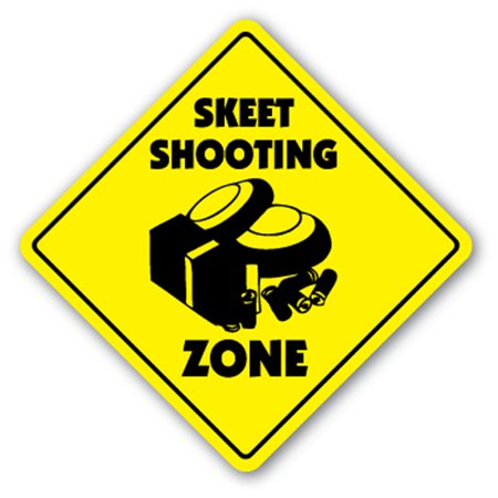Skeet Shooting (Skeet Shooting Zone [3 Pack] of Vinyl Decal Stickers | Indoor/Outdoor | Funny decoration for Laptop, Car, Garage , Bedroom, Offices | SignMission )