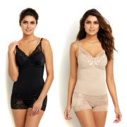 Rhonda Shear Pin-Up Lace Camisole 2-pack