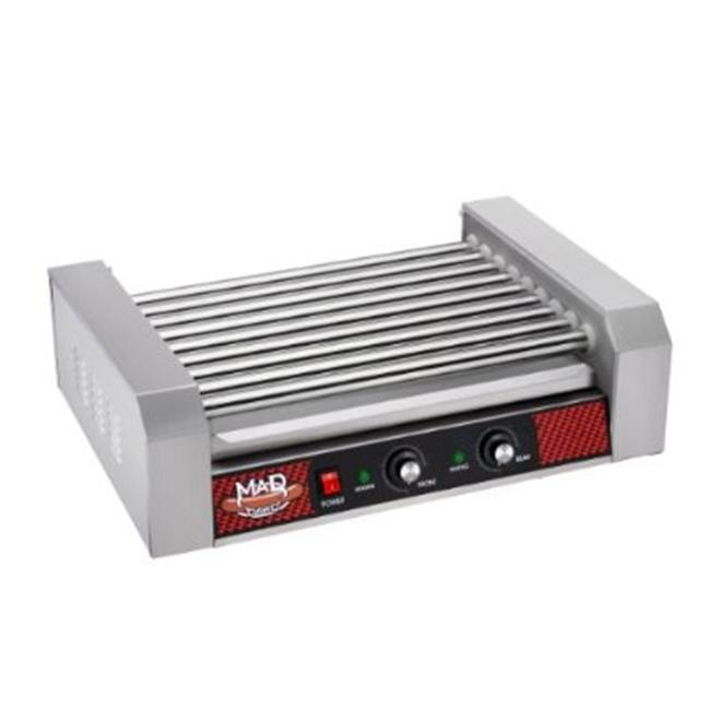 Dtx International 4093 MAD DAWG Commercial Nine Roller Hot Dog Machine With Cover