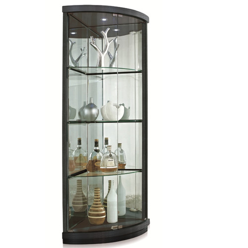 New Spec Inc Lighted Corner Curio Cabinet - Walmart.com