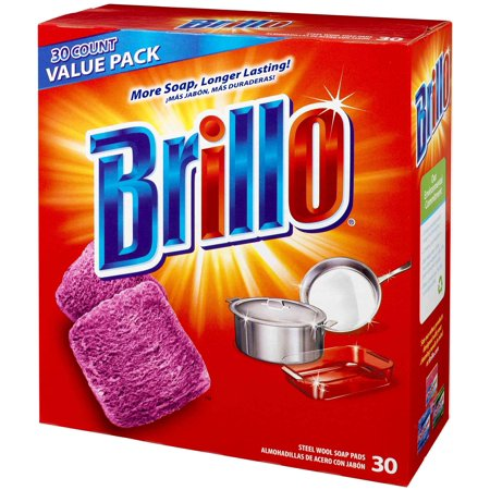 Brillo® Steel Wool Soap Pads 794628302188 Original Scent (Red), 30-Count Jumbo Pack Pack of 1