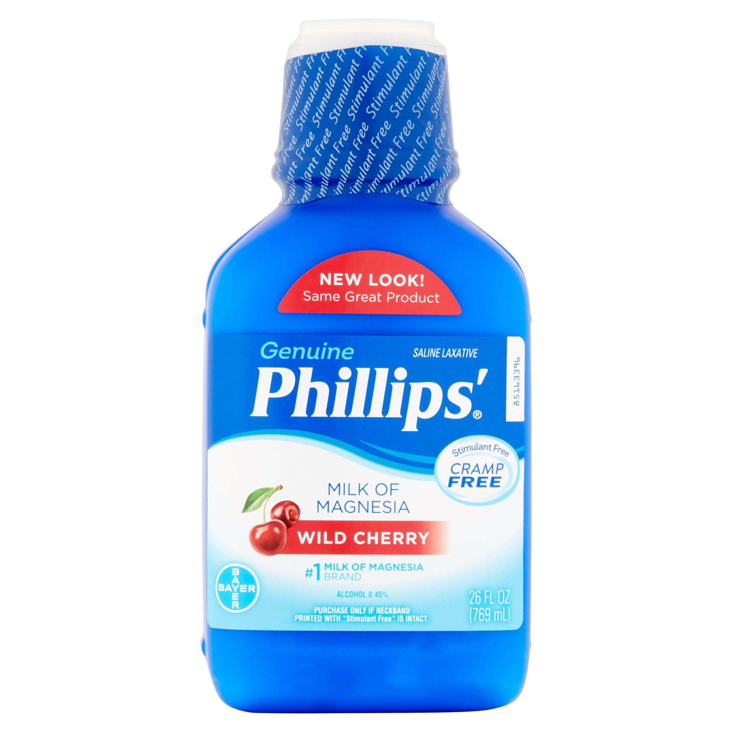 Bayer Phillips' Wild Cherry Saline Laxative, 26 fl oz