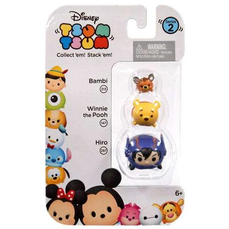 Disney Tsum Tsum Series 2 Bambi, Winnie the Pooh & Hiro Minifigure