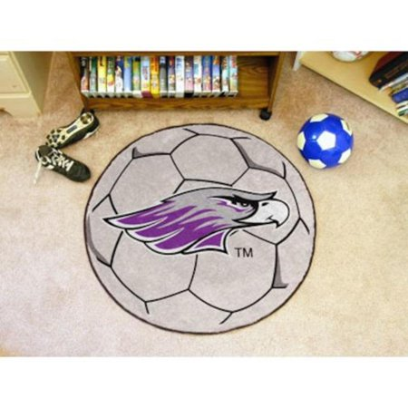 """Wisconsin Whitewater Warhawks NCAA 29"""" Round Soccer Ball Area Rug Floor Mat, Decorate your home or office with this high quality 29"""" Soccer Shaped Area Rug Door.., By Fanmats"""
