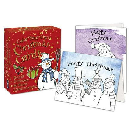 color your own christmas cards walmart com