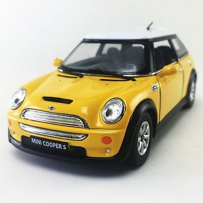 5 Kinsmart Mini Cooper S Diecast Model Toy Car 1 28 Yellow
