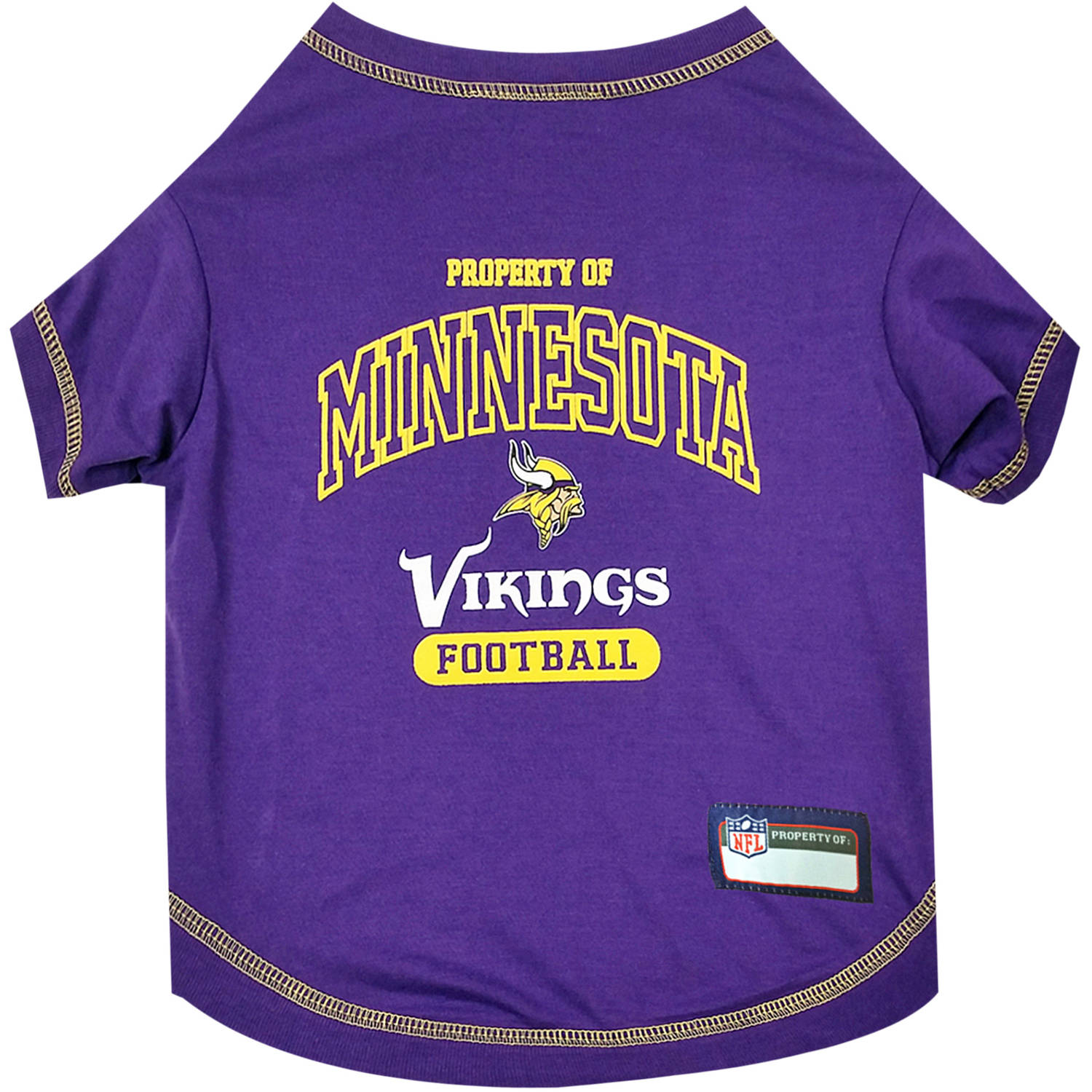 Pets First NFL Minnesota Vikings Pet T-shirt, Assorted Sizes