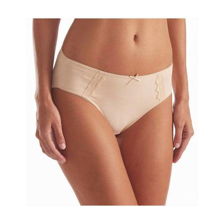 KAREN NEUBURGER Womens Ladies Hi-Cut Underwear With Lace Various Colors 4-Pack