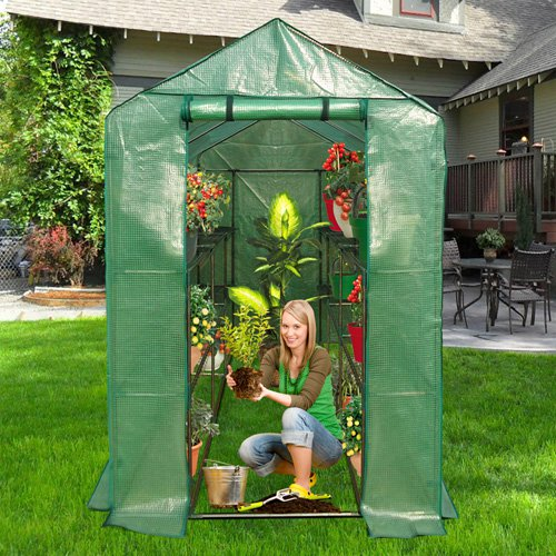 Ogrow Extra Large Heavy Duty Walk-In 2 Tier 12 Shelf Portable Lawn and Garden Greenhouse by King Service Holding Inc