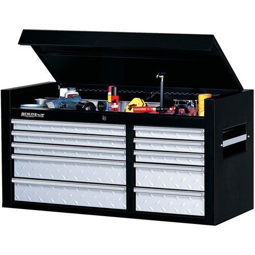 """Remline Professional 10-Drawer 41"""" Tread Plate Top Chest"""