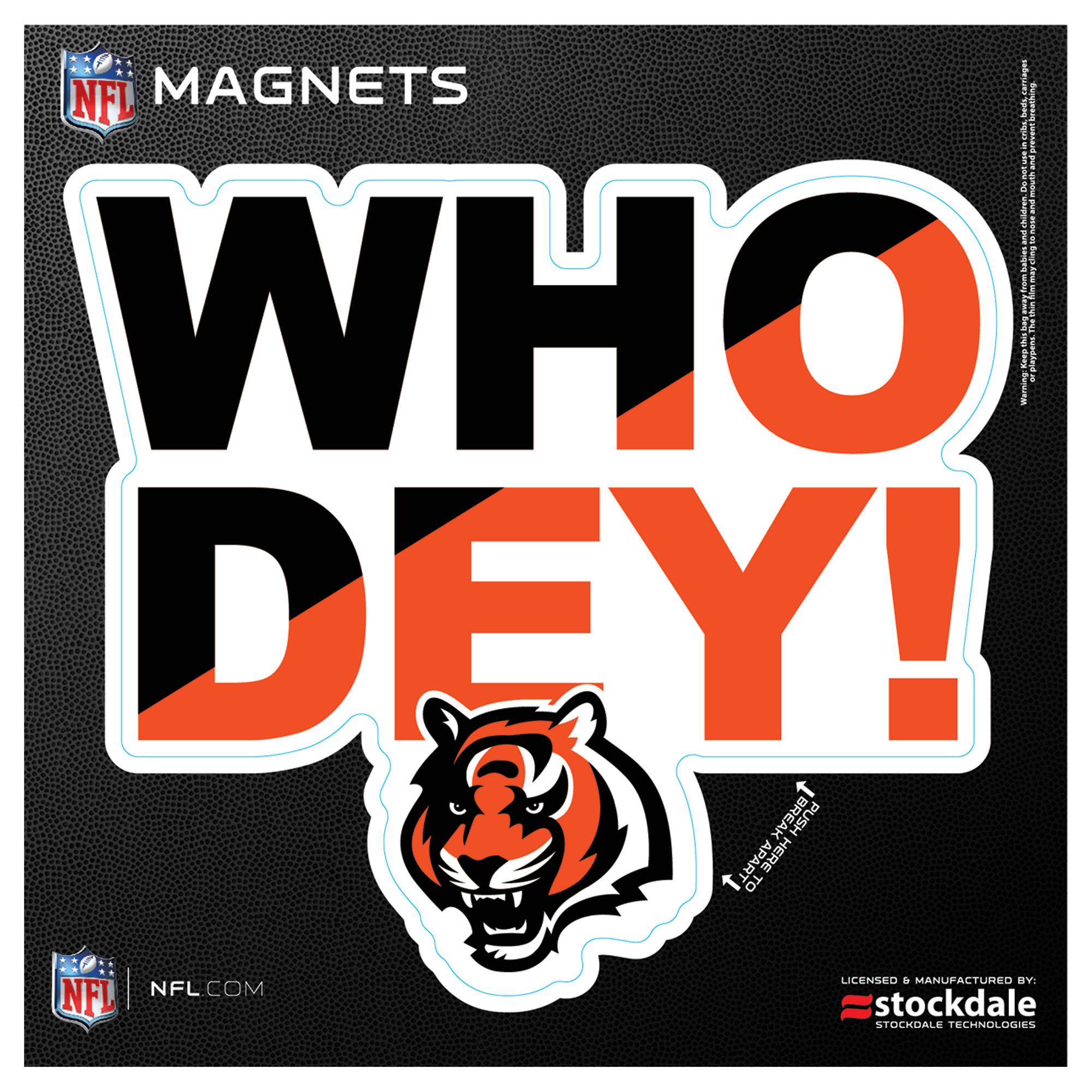 """Cincinnati Bengals 6"""" x 6"""" Xpression Logo Full Color Car Magnet - No Size"""