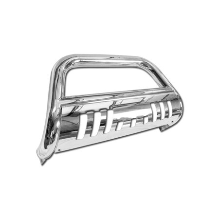 RL Concepts CHROME BULL BAR BRUSH PUSH BUMPER GRILL GRILLE GUARD FOR 05-14 NISSAN FRONTIER