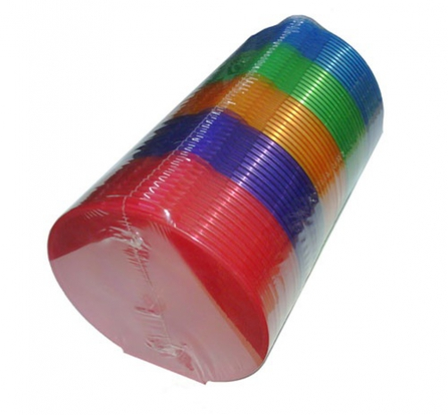 CheckOutStore 50 Assorted Color Round ClamShell CD/DVD Case with Lock