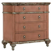 Wooden Accent Chest in Salmon Finish