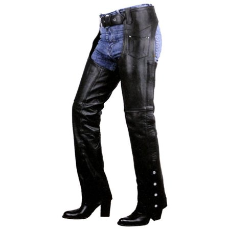 - Xelement Xelement B7703 Women's Black Plain Low Cut Premium Leather Riding Chaps Black 2
