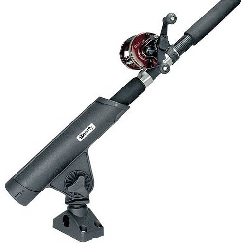 Scotty Rodmaster II Rod Holder, Black, with Side/Deck Mount
