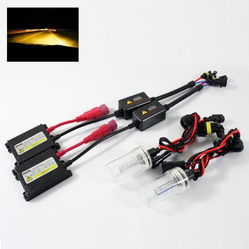 ModifyStreet® 5202/H16/9009/2504/PSY24W 35W Slim AC Ballast Xenon HID Conversion Kit - 3000K Yellow