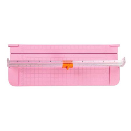 Mini Guillotine Blade, Gridded Paper Trimmer, Small Size Manual Paper Cutter Color:pink