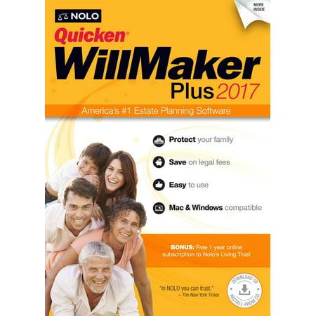 Quicken Willmaker Plus 2017 (Quicken For Xp)