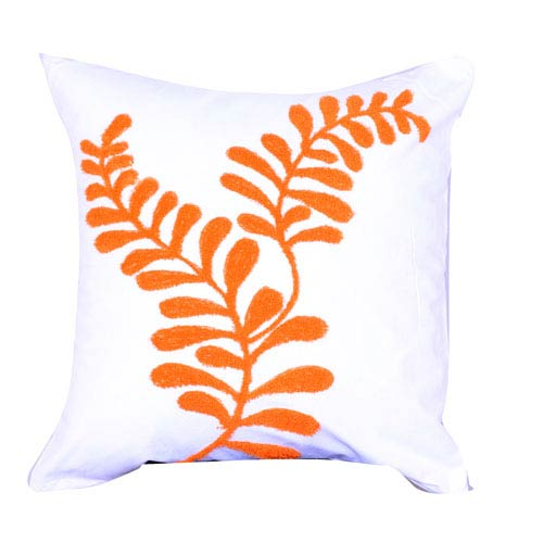 Image of A Home Embroidered Cotton Throw Pillow (Set of 2)