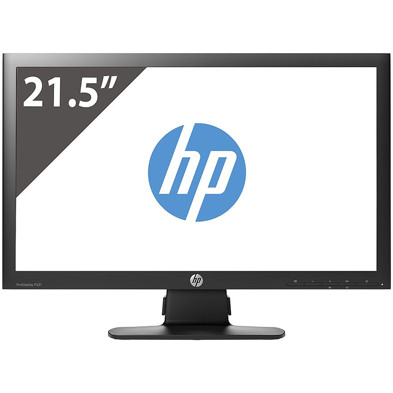 """Off Lease Scratch and Dent HP P221 1920 x 1080 Resolution 21"""" WideScreen LCD Flat Panel Computer Monitor Display"""