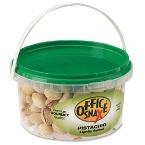 Office Snax Pistachio Nuts - Pistachio - Tub - 13 Oz - 1 Each (OFX00051)