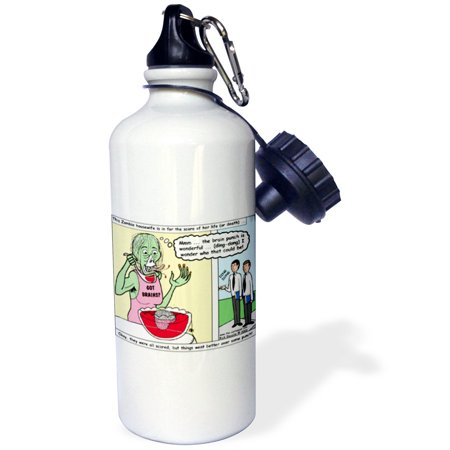 3dRose Halloween - Zombie Punch and the Religious Visitors, Sports Water Bottle, 21oz - Halloween Punch Alcohol