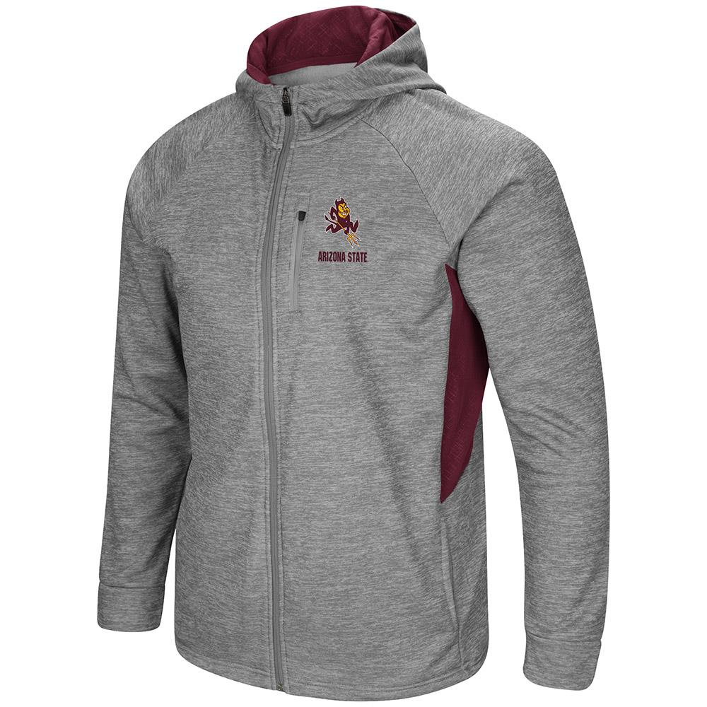 Mens Arizona State Sun Devils Full Zip Jacket S by Colosseum