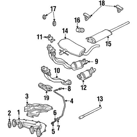 Genuine OE Volkswagen Front Pipe Gasket 1J0-253-115-J