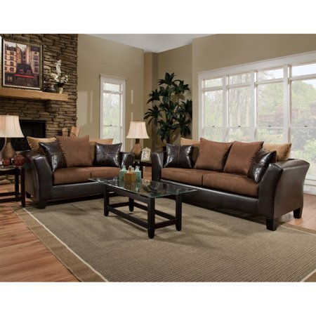 Flash Furniture Riverstone Sierra Chocolate Microfiber Living Room Set ()