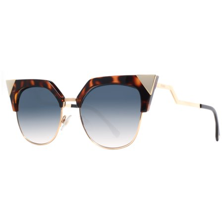 Fendi FF 0149 Iridia TLW G5 Havana Gold/Blue Gradient Cat Eye Women's (Fendi Iridia Sunglasses)