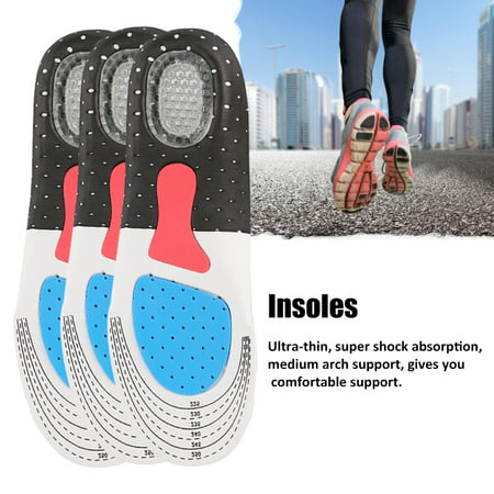 Orthopedic Foot Arch Support Sport Shoe Pad Running Gel Insoles Insert Cushion Insole Sneakers Pad Sweat-absorption and Flash Drying Foot Care Pads Fine Quality Sport