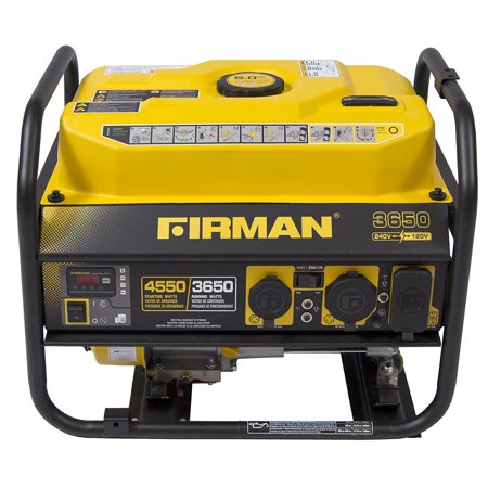 Firman P03605 4550/3650 Watt 120/240 V Gas Recoil Start Generator, cETL, CARB ()