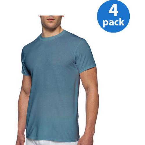 Gildan Men's Short Sleeve Crew T shirt 4 Pack