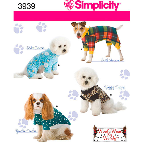 Simplicity Pattern Dog Clothes In 3 Sizes, (S, M, L)
