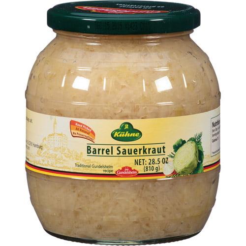 Kuhne Barrel Sauerkraut, 28.5 oz, (Pack of 6)