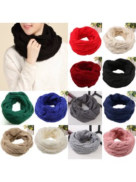 SUNSIOM Women's Warm Winter Infinity Circle Cable Knit Cowl Neck Thick Scarf Shawl Wrap