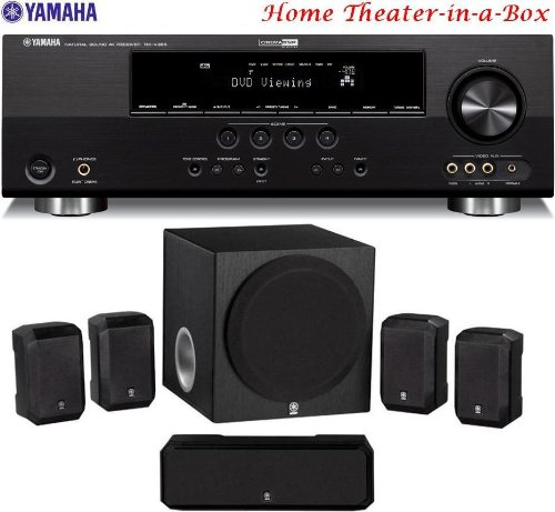 Yamaha 3D-Ready 500 Watt 5.1-Channel Home Theater Receiver With Yamaha 5.1-Channel Home Theater Speaker System... by Yamaha