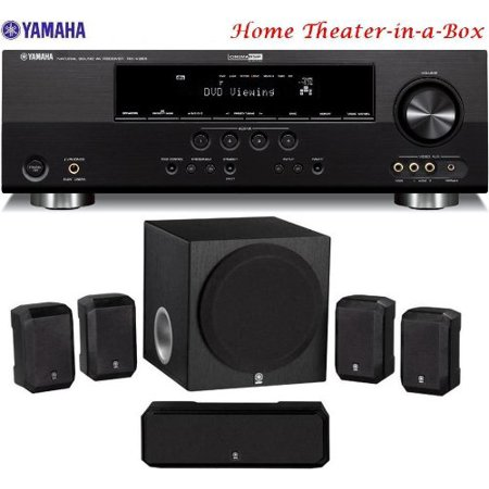 Yamaha 3D-Ready 500 Watt 5.1-Channel Home Theater Receiver With Yamaha 5.1-Channel Home Theater Speaker System + 50 feet