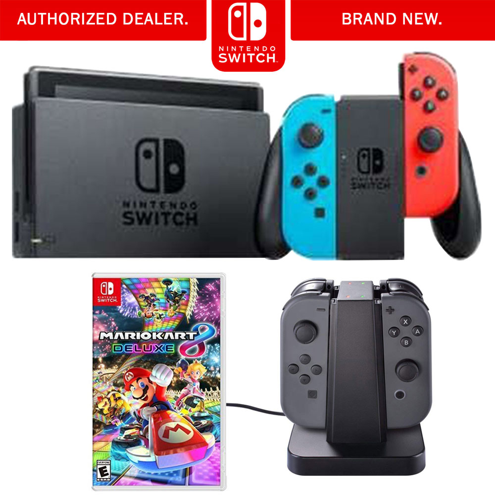 Nintendo Switch 32 Gb Console With Neon Blue And Red Joy Con