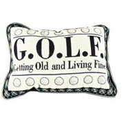Golf G.O.L.F. Getting Old & Living Fine Tapestry Toss Pillow