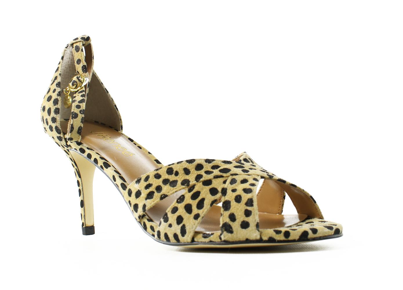 New J. Renee Womens Brown Ankle Strap Heels Size 7.5 by J. Renee