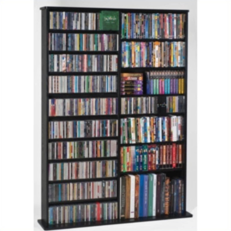 "Leslie Dame 64"" Double High Capacity Wall Rack in Black"