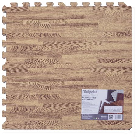 Tadpoles Playmat Set, 9pc, Wood Grain, Light Natural