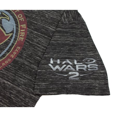 Halo Wars 2 UNSC Spirit of Fire Black Snow Space Dye Mens T-shirt