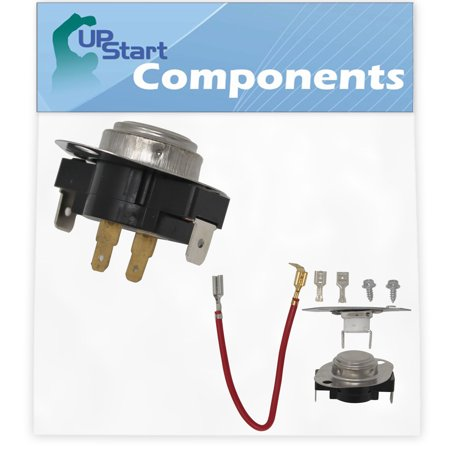 3387134 Cycling Thermostat & 279816 Thermostat Kit Replacement for Whirlpool 7MWED1600BM1 Dryer - Compatible with WP3387134 Thermostat & 279816 Thermal Cut-Off Kit - UpStart Components Brand
