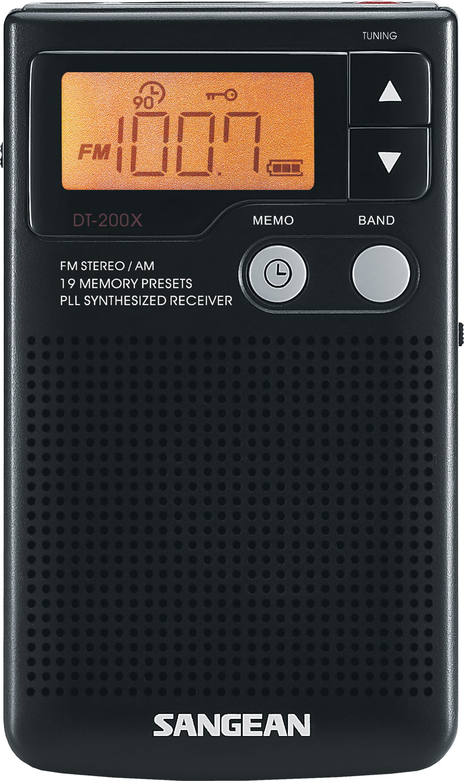 Sangean Compact Digital Tuning Pocket Size Portable AM FM Radio with Built-in Speaker by Sangean