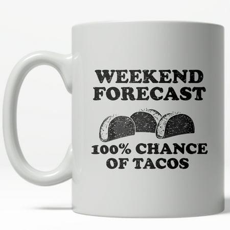 Weekend Forecast Tacos Mug Funny Cinco De Mayo Coffee Cup-11oz (Cinco De Mayo Dog)