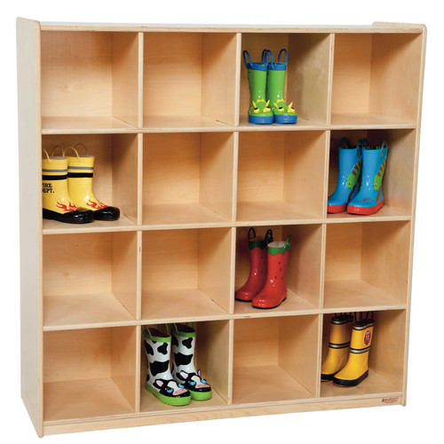 Wood Designs 16 Compartment Cubby